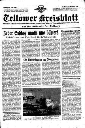 Teltower Kreisblatt vom 09.06.1943