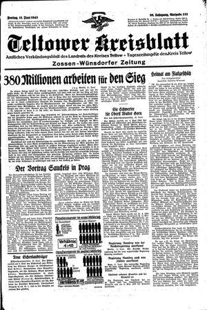 Teltower Kreisblatt vom 11.06.1943