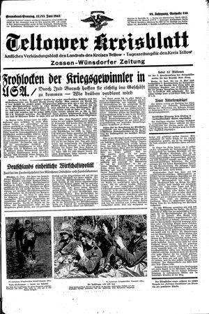 Teltower Kreisblatt vom 12.06.1943