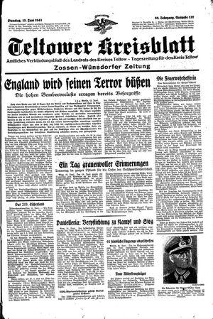 Teltower Kreisblatt vom 15.06.1943