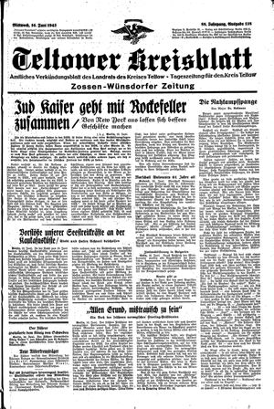 Teltower Kreisblatt vom 16.06.1943