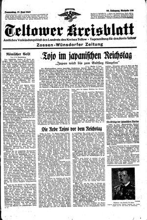 Teltower Kreisblatt vom 17.06.1943