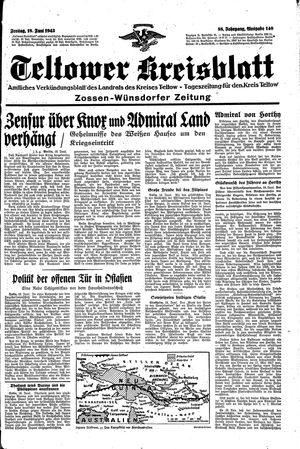 Teltower Kreisblatt vom 18.06.1943