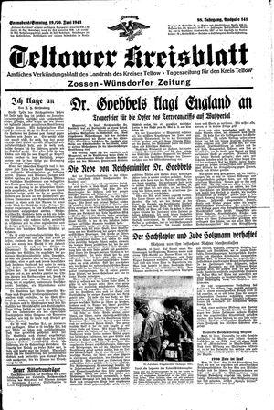 Teltower Kreisblatt vom 19.06.1943