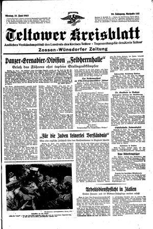 Teltower Kreisblatt vom 21.06.1943