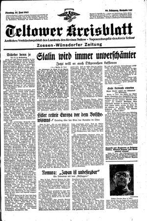 Teltower Kreisblatt vom 22.06.1943