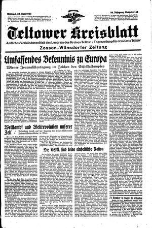 Teltower Kreisblatt vom 23.06.1943