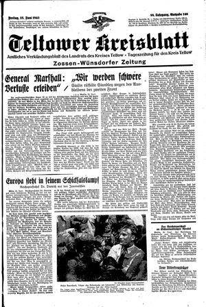 Teltower Kreisblatt vom 25.06.1943