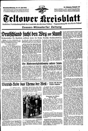 Teltower Kreisblatt vom 26.06.1943