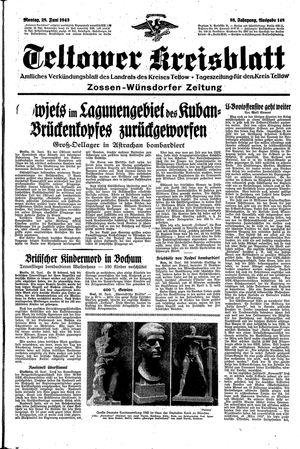 Teltower Kreisblatt vom 28.06.1943