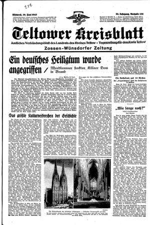 Teltower Kreisblatt vom 30.06.1943