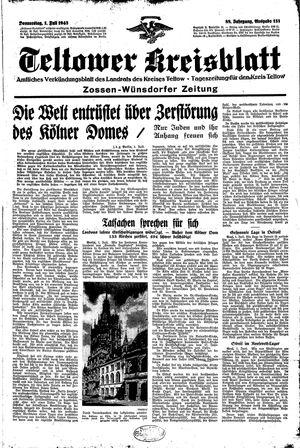 Teltower Kreisblatt vom 01.07.1943