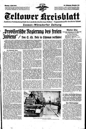 Teltower Kreisblatt vom 05.07.1943
