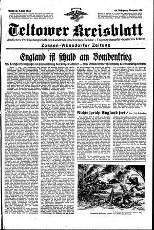 Teltower Kreisblatt vom 07.07.1943