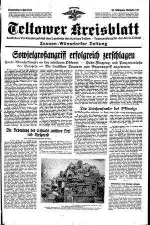 Teltower Kreisblatt vom 08.07.1943