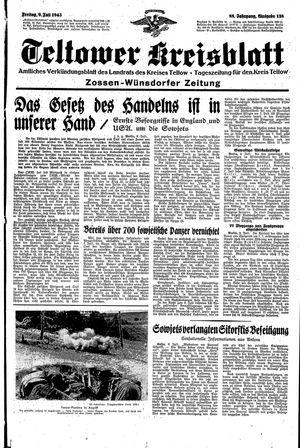 Teltower Kreisblatt vom 09.07.1943