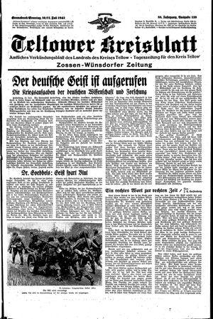 Teltower Kreisblatt vom 10.07.1943