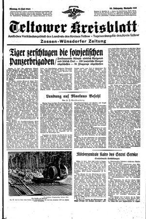 Teltower Kreisblatt vom 12.07.1943