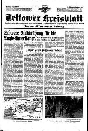 Teltower Kreisblatt vom 13.07.1943