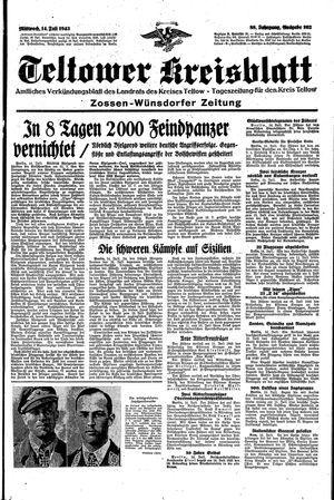 Teltower Kreisblatt vom 14.07.1943
