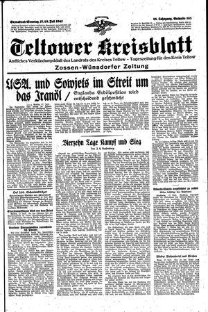Teltower Kreisblatt vom 17.07.1943