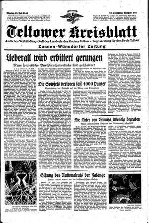 Teltower Kreisblatt vom 19.07.1943
