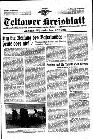 Teltower Kreisblatt vom 20.07.1943
