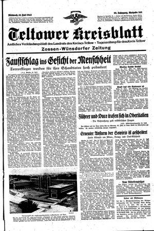 Teltower Kreisblatt vom 21.07.1943