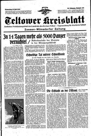 Teltower Kreisblatt vom 22.07.1943