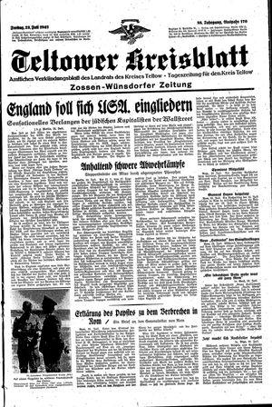 Teltower Kreisblatt vom 23.07.1943