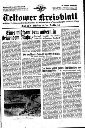 Teltower Kreisblatt vom 24.07.1943