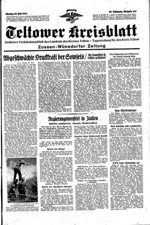 Teltower Kreisblatt vom 26.07.1943