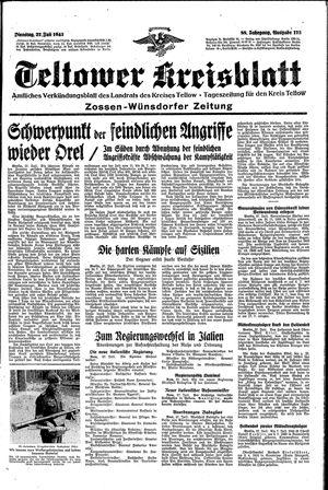 Teltower Kreisblatt vom 27.07.1943