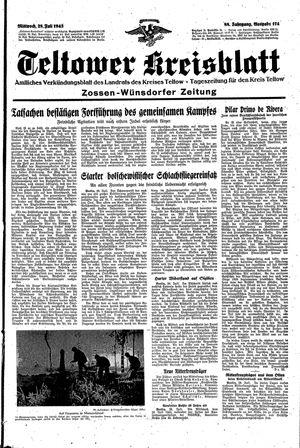 Teltower Kreisblatt vom 28.07.1943