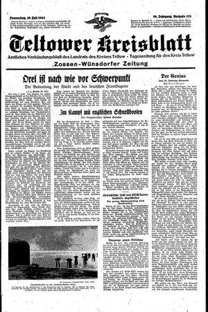 Teltower Kreisblatt vom 29.07.1943