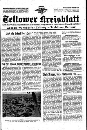 Teltower Kreisblatt vom 31.07.1943