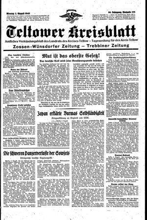 Teltower Kreisblatt vom 02.08.1943