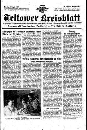 Teltower Kreisblatt vom 03.08.1943