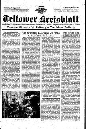 Teltower Kreisblatt vom 05.08.1943