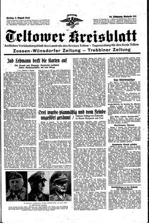 Teltower Kreisblatt vom 06.08.1943