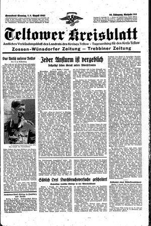 Teltower Kreisblatt vom 07.08.1943