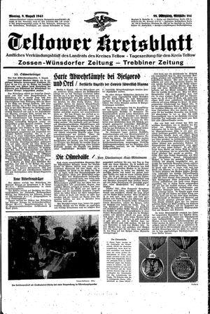 Teltower Kreisblatt vom 09.08.1943