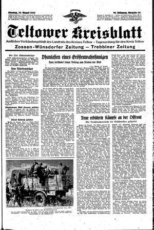 Teltower Kreisblatt vom 10.08.1943