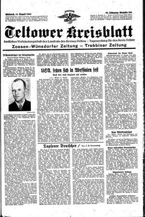 Teltower Kreisblatt vom 11.08.1943