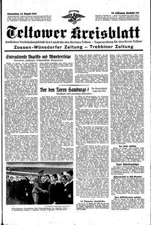 Teltower Kreisblatt vom 12.08.1943