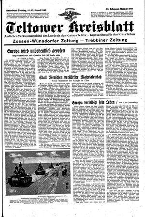 Teltower Kreisblatt vom 14.08.1943