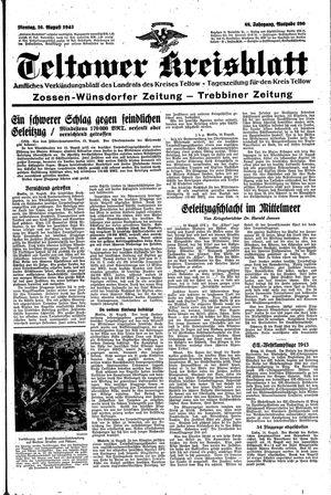 Teltower Kreisblatt vom 16.08.1943