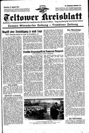 Teltower Kreisblatt vom 17.08.1943