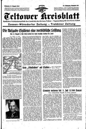 Teltower Kreisblatt vom 18.08.1943
