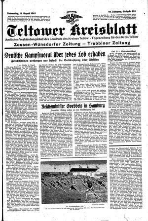 Teltower Kreisblatt vom 19.08.1943